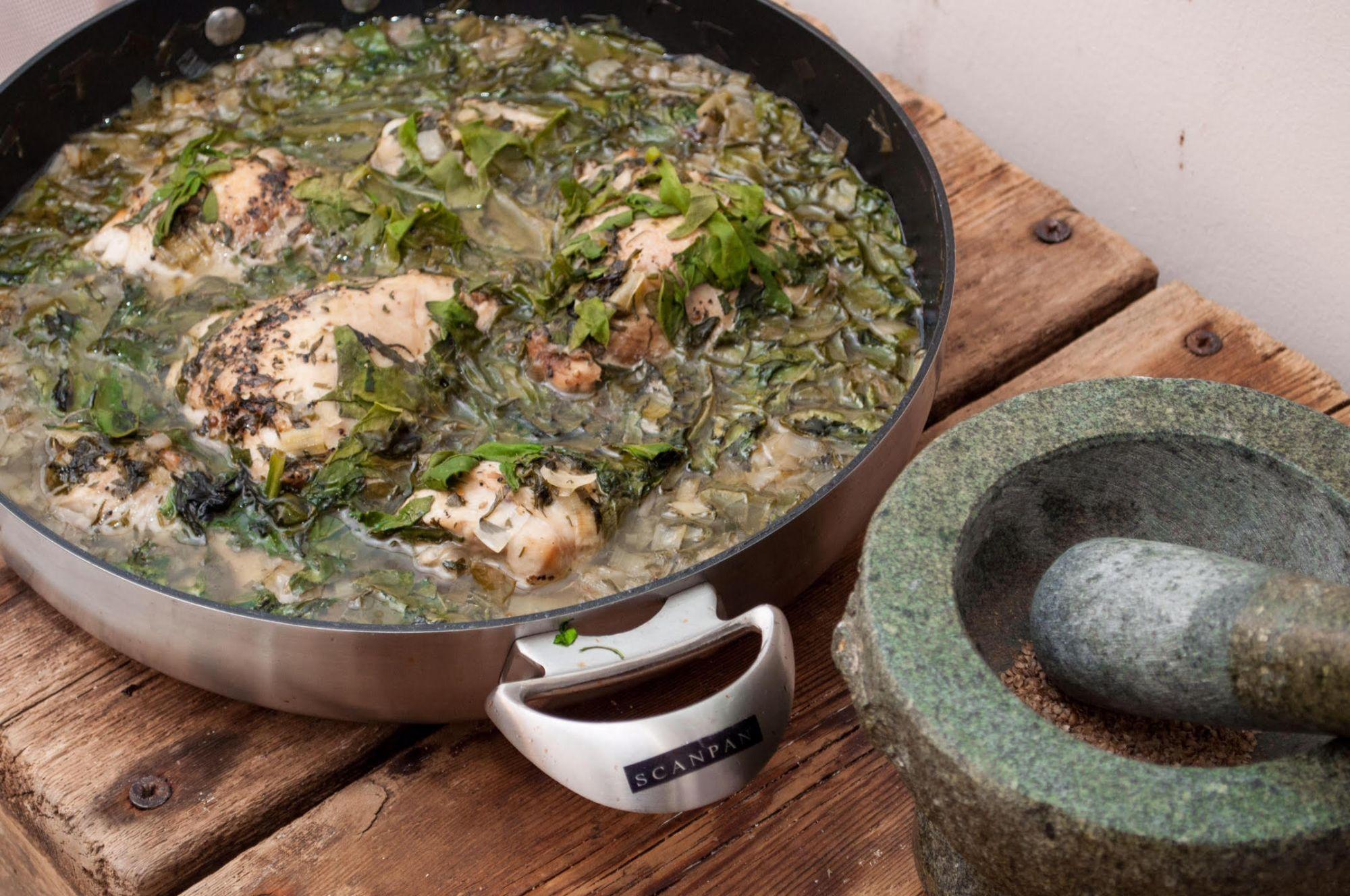 תבשיל עוף עם המון ירוקים