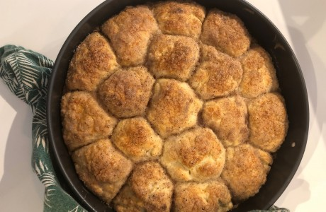 עוגת שמרים קינמון וחמאה