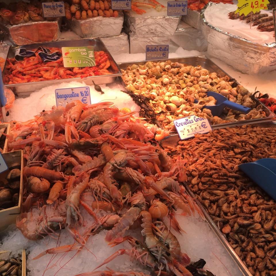 מבחר מסחרר של דגים ופירות ים